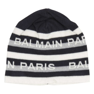 Balmain cotton striped beanie