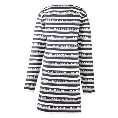 Jacquard logo cotton & cashmere knit dress