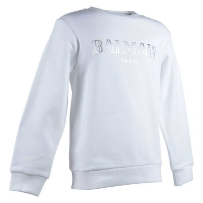 White logo cotton sweatshirt
