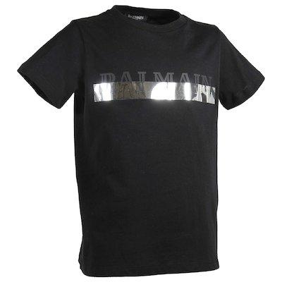 Black logo cotton jersey t-shirt