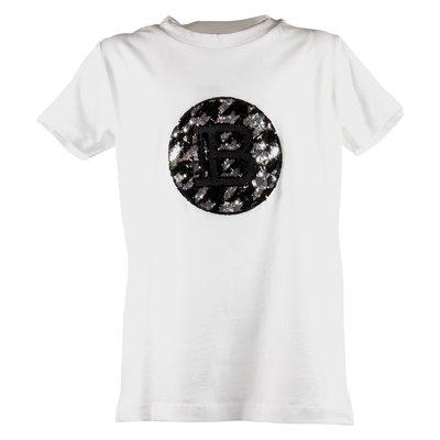 White logo detail cotton jersey t-shirt