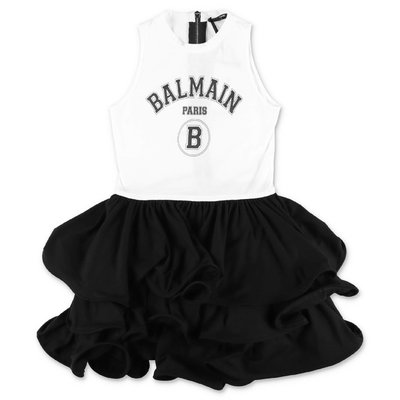 BALMAIN black & white cotton dress
