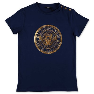 Balmain blue cotton jersey t-shirt