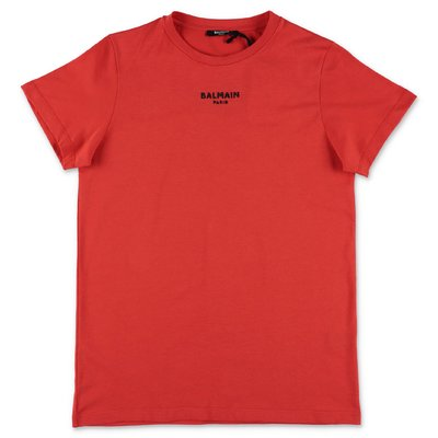 BALMAIN red cotton jersey t-shirt