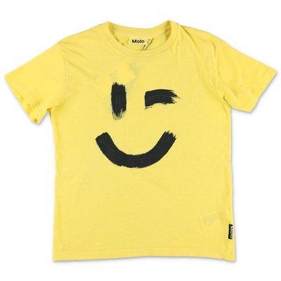 MOLO t-shirt gialla in jersey di cotone organico