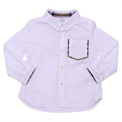 White cotton oxford shirt