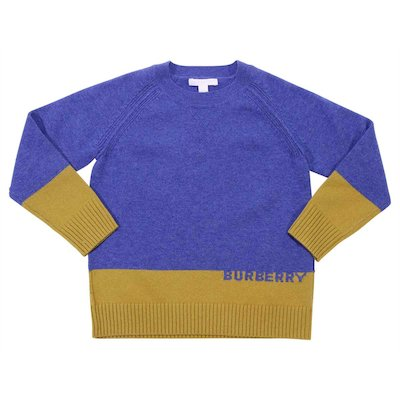 Blue cashmere knit jumper