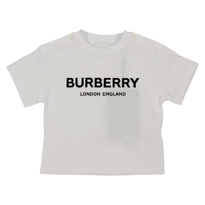 T-shirt bianca Mini-Robbie in jersey di cotone con logo
