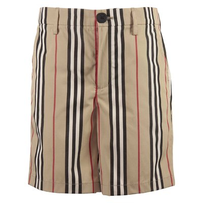 Nicki Icon Stripe shorts in popeline di cotone