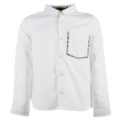 White cotton poplin oxford shirt