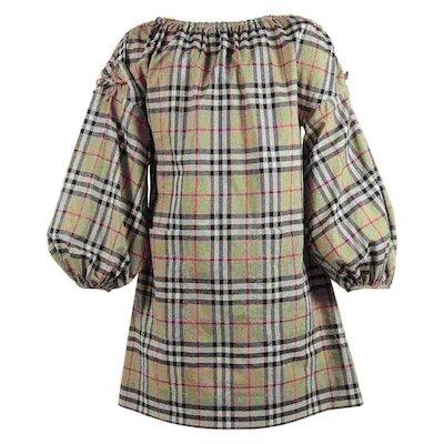 코튼 체크 드레스