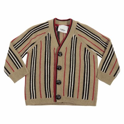 Icon Stripe wool and cashmere cardigan