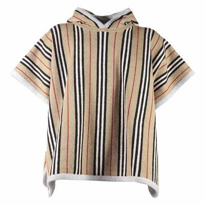 Burberry Poncho a righe in lana merino