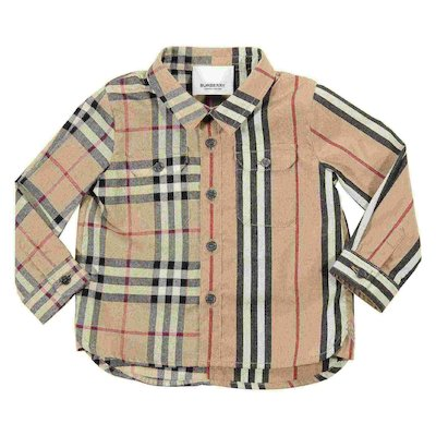 Check cotton poplin shirt