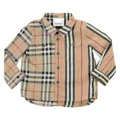 Camicia check in popeline di cotone