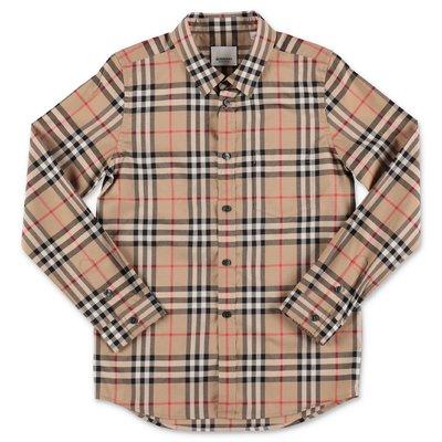 Vintage check cotton poplin shirt