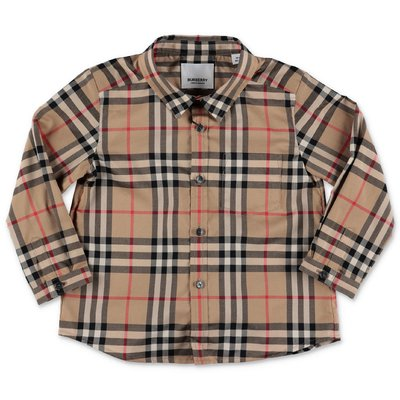 Vintage check cotton poplin shirt