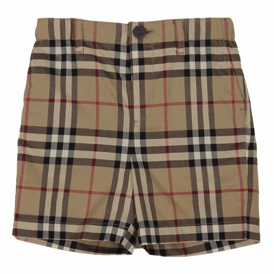 Vintage check cotton poplin Sean shorts