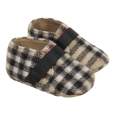 Vintage check brushed wool shoes