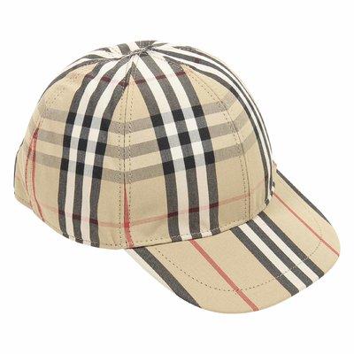 Vintage check cotton cap
