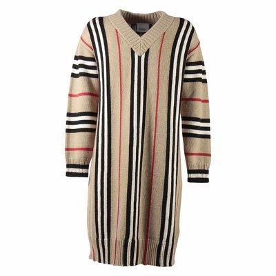 Abito Icon Stripe in cashmere e lana