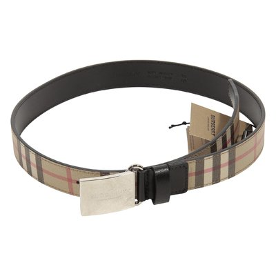 Vintage check logo detail belt
