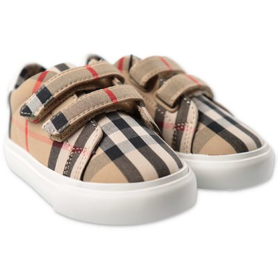 Burberry vintage check cotton Markham straps sneakers