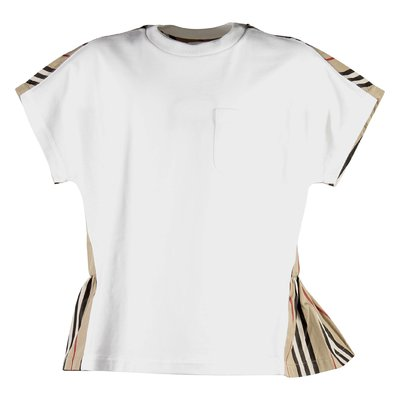 Cotton jersey and poplin Delilah t-shirt with contrasting panels