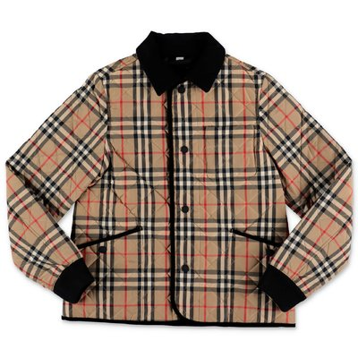 Vintage check nylon quilted Culford jacket