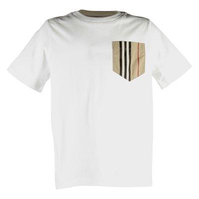White Icon pocket cotton jersey t-shirt