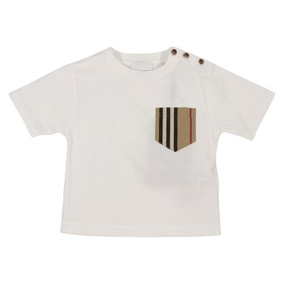 T-shirt bianca Icon pocket in jersey di cotone