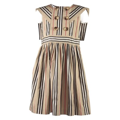 Icon Stripe cotton poplin Oralie dress
