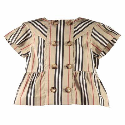 Blusa Orin Icon Stripe in popeline di cotone