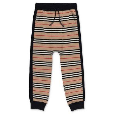 Burberry pantaloni Lance Jogger Icon Stripe in felpa di cotone