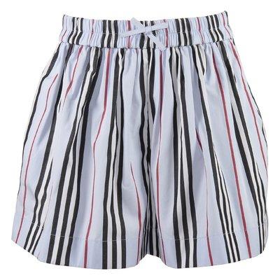 Icon Stripe cotton poplin MARCY Hakama shorts