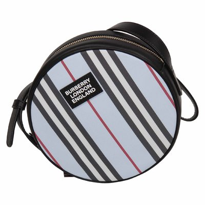Borsa azzurra Icon Stripe Tamburine in nylon