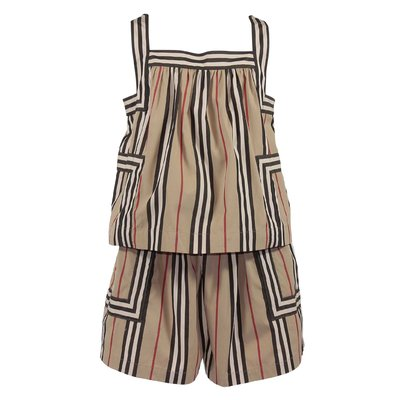 Icon Stripe cotton poplin FLORENCE sleeveless romper