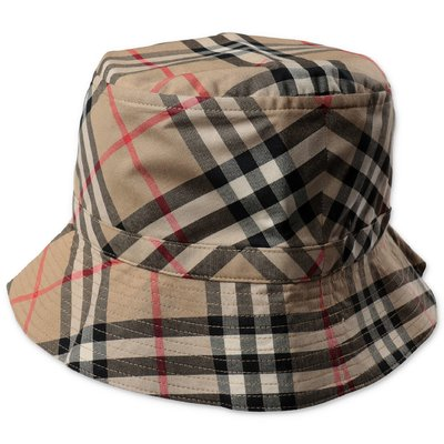 Burberry cappello da pescatore CHANDY Vintage Check in cotone