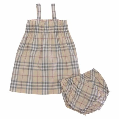 Set JOAN Vintage Check in cotone con abito e coulotte