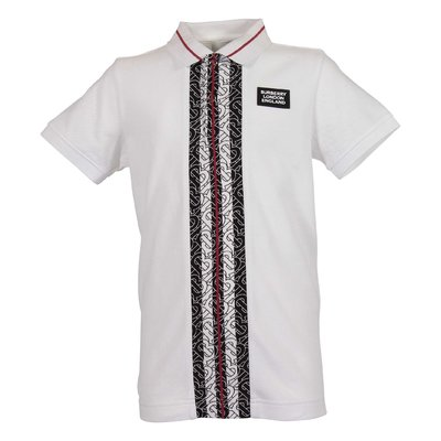 White logo detail cotton piquet JOSEPH polo shirt