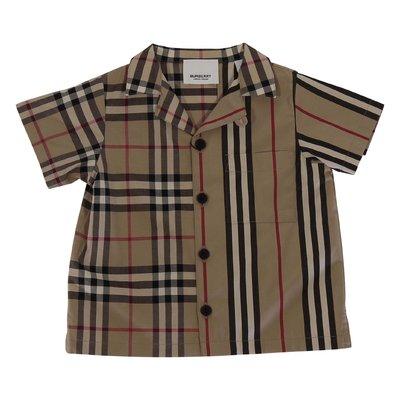 Camicia Vintage Check & Icon Stripe Jay Shirt in popeline di cotone