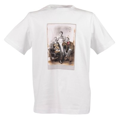 White cotton jersey PARTY PORTRAIT t-shirt