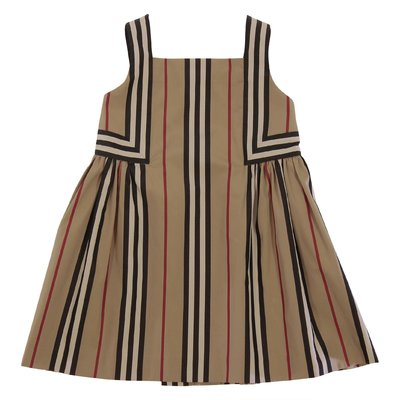 MINI-ASTRID Icon Stripe cotton poplin dress