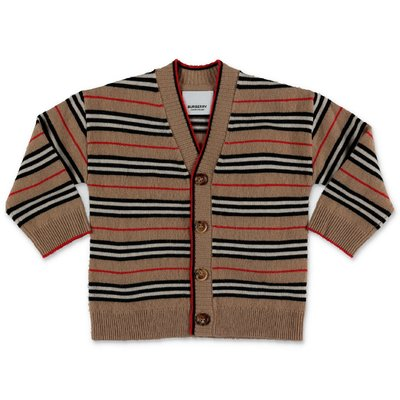 Burberry Icon Stripe TOBIAS wool & cashmere knit cardigan