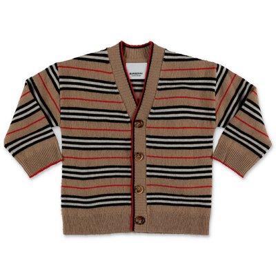 Burberry cardigan Icon Stripe TOBIAS in maglia di lana e cashmere