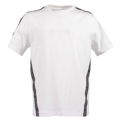 White logo detail cotton jersey ROOS TAPE t-shirt
