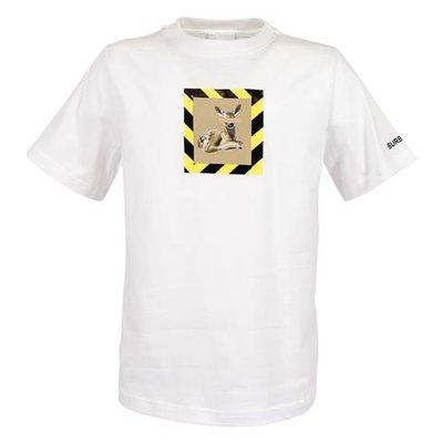 T-shirt bianca RENLEY DEER in jersey di cotone