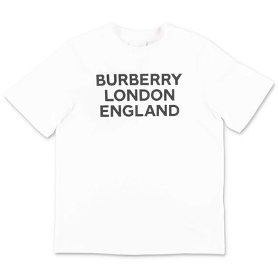 Burberry white logo detail cotton jersey t-shirt