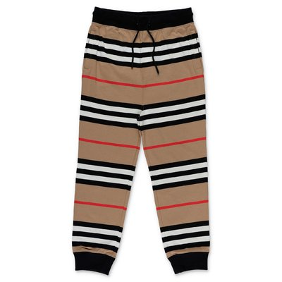 Burberry pantaloni Icon Stripe in felpa di cotone