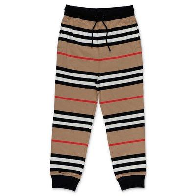 Burberry pantaloni Icon Stripe in felpa di cotone
